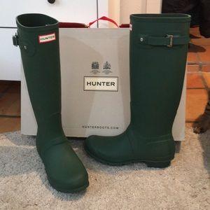 Hunter Green Hunter Boots *BRAND NEW*